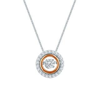 Auriya 14k Two-tone Gold 1/2ct TDW Dancing Stone Diamond Necklace (H-I, I1-I2)
