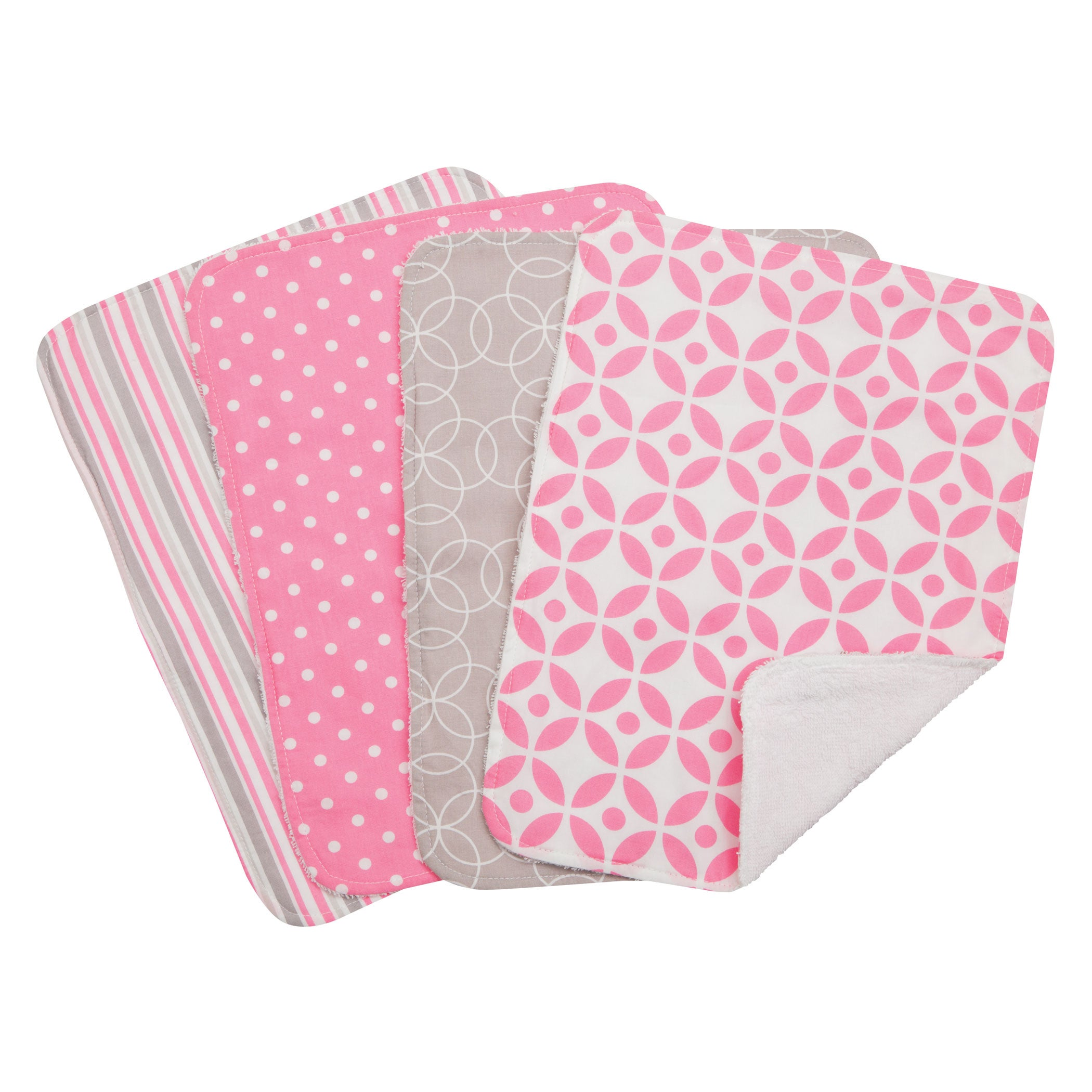 Trend Lab 5-piece Nursing Cover and Burp Cloth Set in Lil...