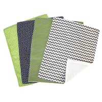 Trend Lab 5-piece Nursing Cover and Burp Cloth Set in Perfectly Preppy - Navy