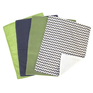 Trend Lab 5-piece Nursing Cover and Burp Cloth Set in Perfectly Preppy