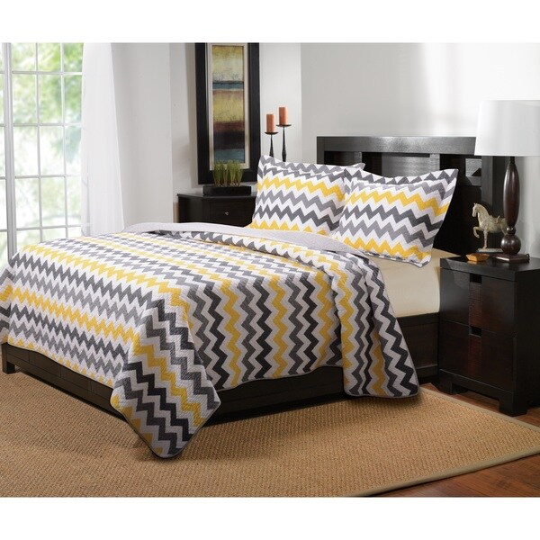 Greenland Home Fashions Vida Reversible Cotton Quilt Set