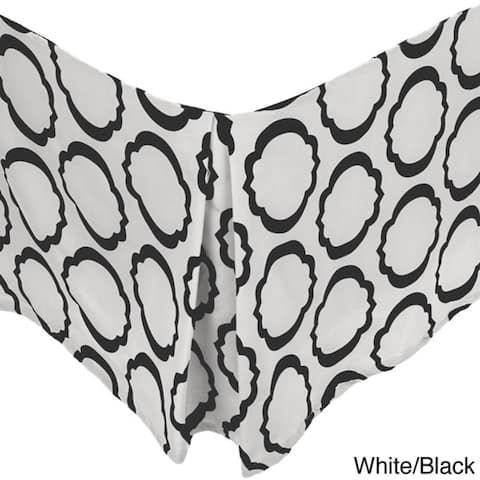 Miranda Haus Modern Geometric Cotton 15-inch Drop Bed Skirt