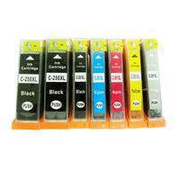 7-Pack Replacing Canon PGI-250 CLI-251 Ink Cartridge For PIXMA MG5420 MG5450 MG6320 MG6350 MX922 iP7220 iP7250 MX722