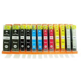 12-Pack Replacing Canon PGI-250 CLI-251 Ink Cartridge For PIXMA MG5420 MG5450 MG6320 MG6350 MX922 iP