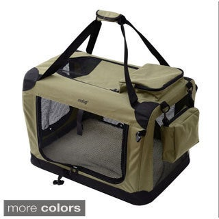 Extra-large Portable Soft Pet Crate with Carrier Strap
