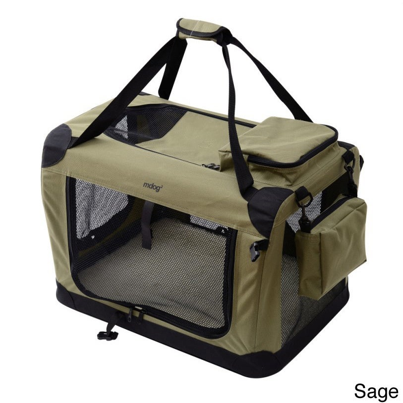 Merske XXL Portable Soft Pet Crate with Carrier Strap (Gr...