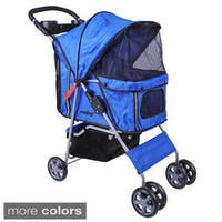 4-wheel Front and Rear Entry Pet Stroller
