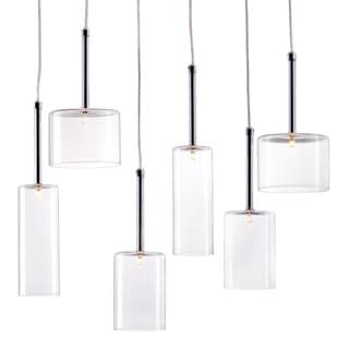 Hale Clear 6-light Ceiling Lamp