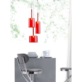 Lightning 3-light Red Ceiling Lamp