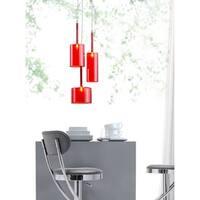 Lightning 3-light Red Ceiling Lamp