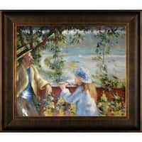 Pierre-Auguste Renoir Near the Lake Hand Painted Framed Canvas Art