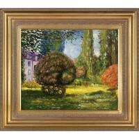 Claude Monet 'Il Parco Monceau ' Hand Painted Framed Canvas Art