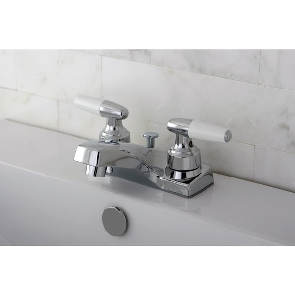 Polished Chrome Centerset Bathroom Faucet Free Shipping