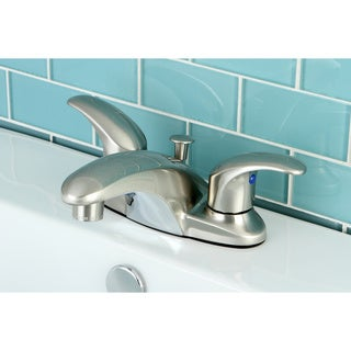 Double Handle Satin Nickel Bathroom Faucet