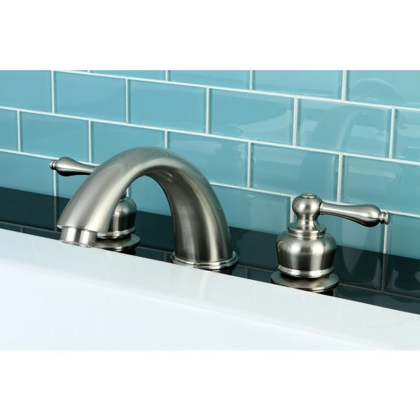 Shop Satin Nickel Roman Tub Filler Faucet Free Shipping