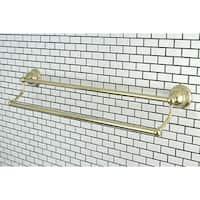 Restoration Polished Brass 24-inch Double Towel Bar
