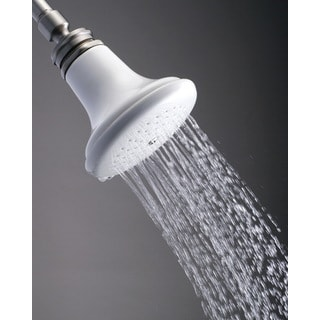 Victorian Ceramic Satin Nickel 5-inch Shower Head