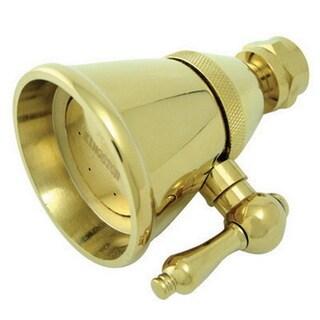 Polished Brass 2.25-inch Adjustable Shower Head