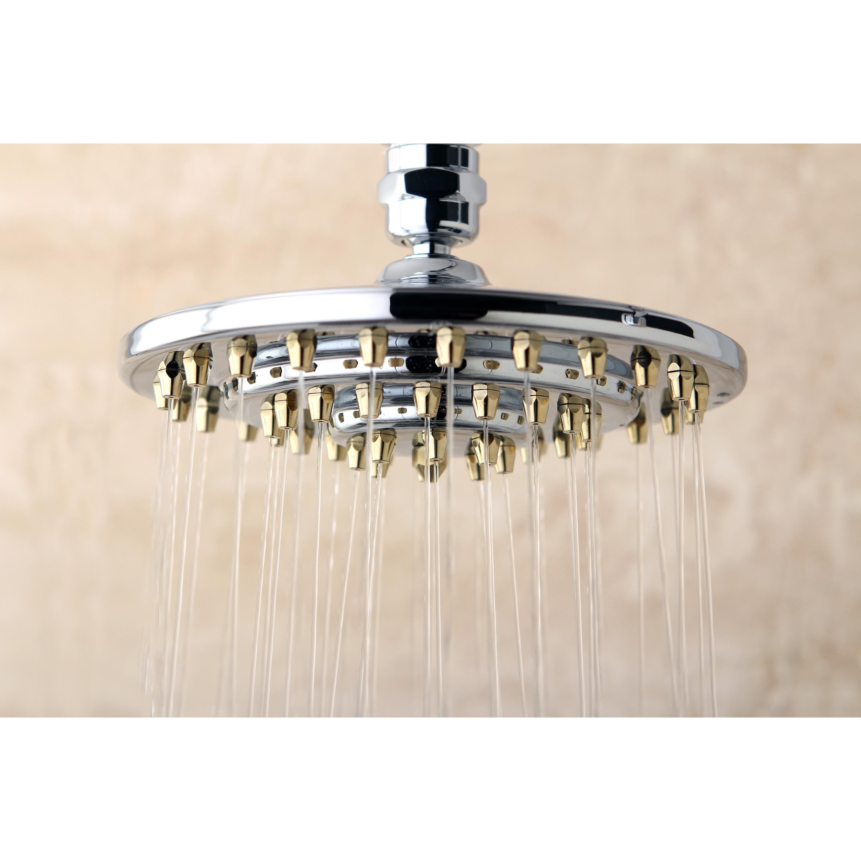 Rainfall Chrome Polished Brass 6 Inch Shower Head
