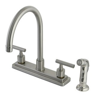 Satin Nickel 8-inch Kitchen Faucet with Side Sprayer