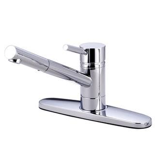 Polished Chrome Single Handle 8-inch Centerset Kitchen Faucet