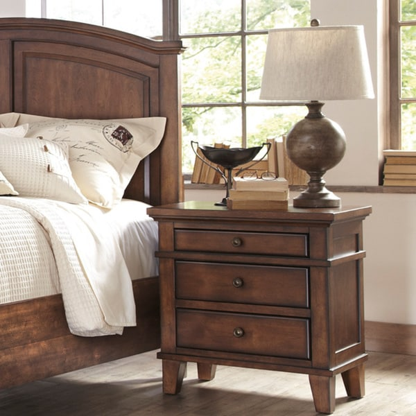 Shop Signature Design By Ashley 39 Burkesville 39 Burnished Brown 3 Drawer Nightstand Free