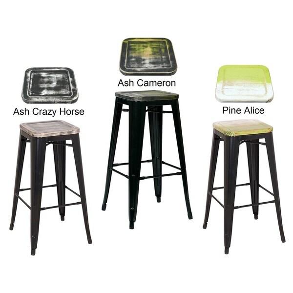 shop 30 inch black frame sheet metal bar stool 2 pack 30 free shipping today overstock. Black Bedroom Furniture Sets. Home Design Ideas