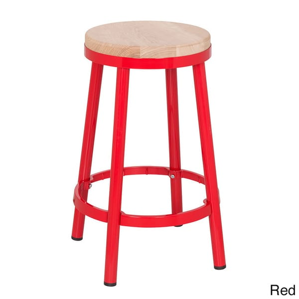 Stupendous Shop Osp Home Furnishings Modern Round Backless Metal And Uwap Interior Chair Design Uwaporg