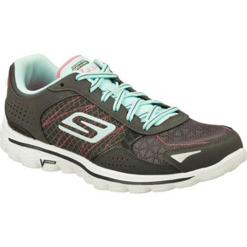 30dc061443b7 Shop Women s Skechers GOwalk 2 Flash Gray Blue - Free Shipping Today -  Overstock - 9043919