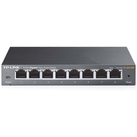 TP-LINK TL-SG108E 8-Port Gigabit Easy Smart Switch, 8 10/100/1000Mbps