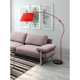 Derecho 1-light Red Floor Lamp