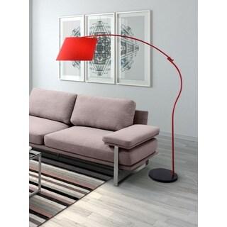Derecho 1-light Red Floor Lamp