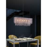 Jet Stream 6-light Clear Ceiling Lamp