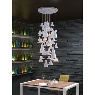 Climate 5-light White Ceiling Lamp