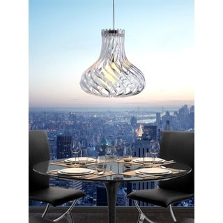 Tsunami 1-light Clear Ceiling Lamp