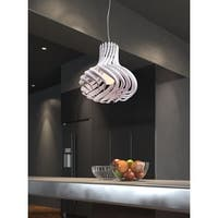 Tsunami Single-light White Ceiling Lamp