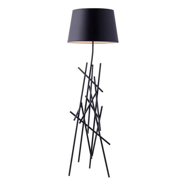 Drought Single Light Black Metal Floor Lamp Free