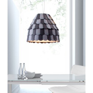 Mesocyclone Single-light Grey Ceiling Lamp