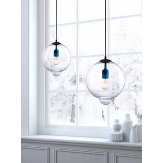 Gradient Single-light Clear Round Ceiling Lamp