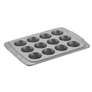 Cake Boss Deluxe Grey Nonstick Bakeware 12-Cup Muffin Pan