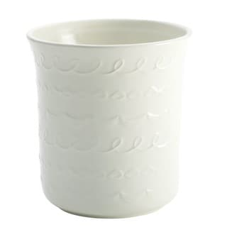 Cake Boss Countertop Accessories Stoneware White 'Icing' Pattern Tool Crock