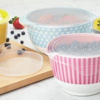 Cake Boss Clear Countertop Accessories 3-Piece Silicone Lid Set