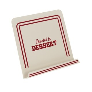 Cake Boss Countertop Accessories 'Devoted To Dessert' Cream Metal Cookbook Stand