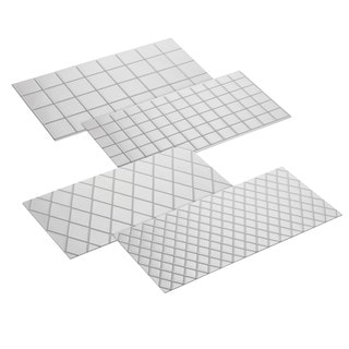 Cake Boss Decorating Tools 4-piece Clear Quilted Fondant Imprint Mat Set