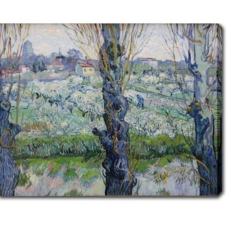 Vincent van Gogh 'View of Arles, flowering orchards' Oil on Canvas Art
