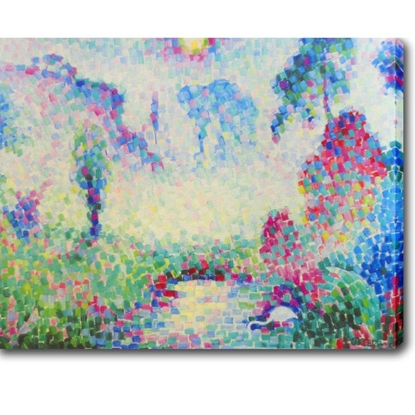 Jean Metzinger 'Paysage Pointilliste' Oil on Canvas Art - Multi