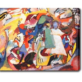 Wasilly Kandinsky 'Angel of the Last Judgment' Oil on Canvas Art