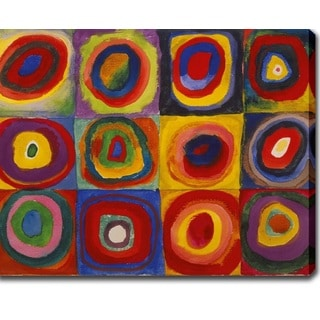 Wasilly Kandinsky 'Color Study- Squares with Concentric Circles' Oil on Canvas Art