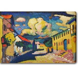 Wassily Kandinsky 'Murnau, Dorfstrasse (A Village Street)' Oil on Canvas Art