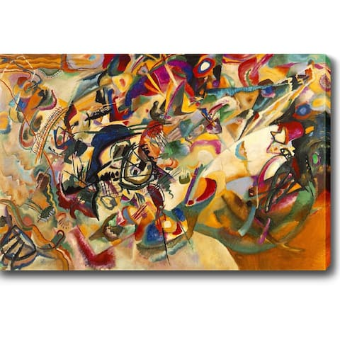 Wassily Kandinsky 'Composition VII' Oil on Canvas Art